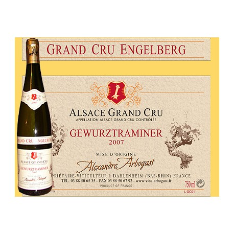 Gewurztraminer Grand Cru Engelberg 75cl